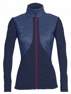 ICEBREAKER - MerinoLOFT Ellipse Long Sleeve Zip Damen - 230 g/m² Gr. S&L
