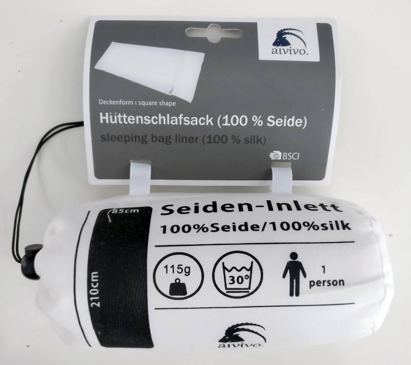 beste Angebote für feine handwerkskunst Niedriger Verkaufspreis Details zu Alvivo (Alpex) - Seiden-Inlet - Hüttenschlafsack - Made in  Germany