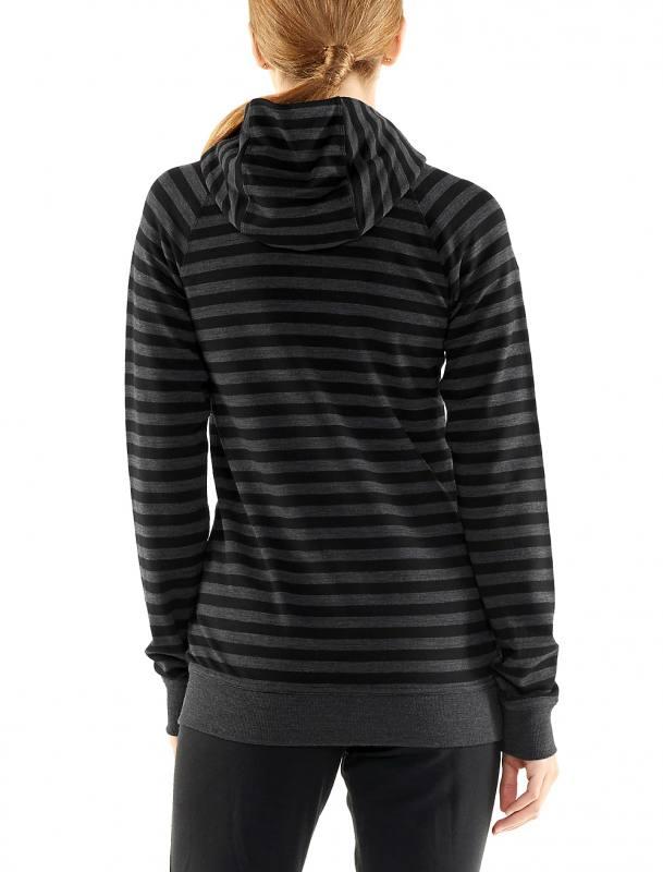 ICEBREAKER 200 g//m² Merinowolle Crush Long Sleeve Zip Hood Damen