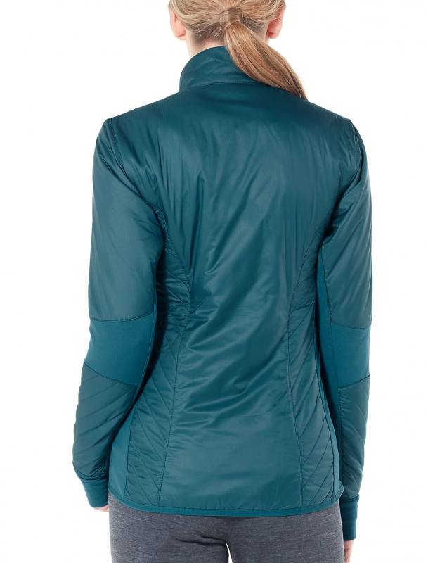 ICEBREAKER MerinoLOFT Helix Long Sleeve Zip Damen 260 gm²
