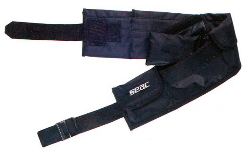 SEAC Taschenbleigurt mit Bleitaschen Tauchen verschiedene Größen